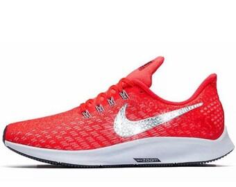 Swarovski Nike Air Zoom Pegasus 35 Customized With Swarovski Crystal  Rhinestones Bling Nike Shoes c964dbc28