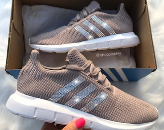 020615760 Swarovski Adidas Originals Swift Run Girls Womens Casual Shoes