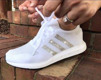 Swarovski Adidas Originals Swift Run Girls Womens Casual Shoes a915e9efdd86