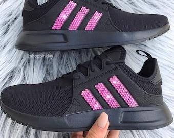 be7d8f2c815a Pink Swarovski Adidas Originals XPLR Girls Womens Casual Shoes