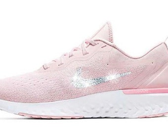 Swarovski Nike Odyssey React Running Shoes Customized With Swarovski  Crystals Bling Nike Shoes 035e58c0d