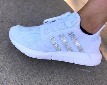 efe2397aa Swarovski Women s Adidas Swift Run Casual Shoes