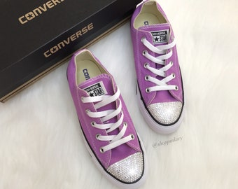 372d39b0ec3e SIZE 6 Women s Bling Converse Chuck Taylor Ox Casual Shoes Customized with  Swarovski Crystals