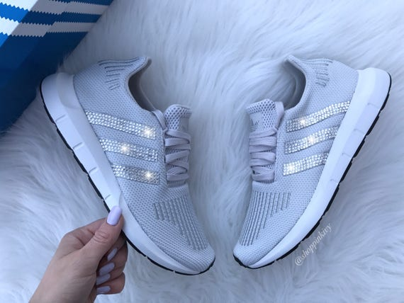 Swarovski Adidas Swift Run Women s Casual Shoes  918d3f314072