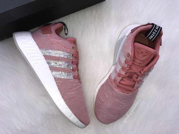 NMD Runner Shoes SIZE R2 Swarovski 7 Adidas Blush Casual qaxwIv61