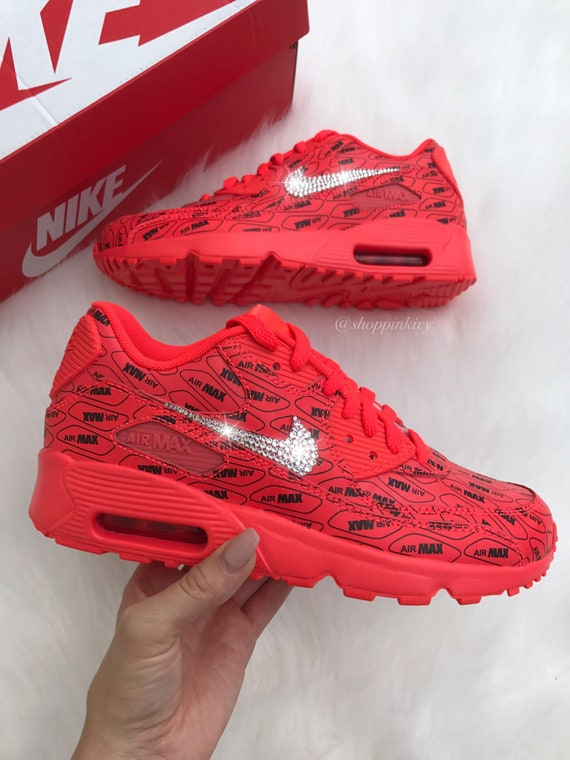 cec793af7d3d Swarovski Nike Air Max 90 Premium Shoes Blinged Out With
