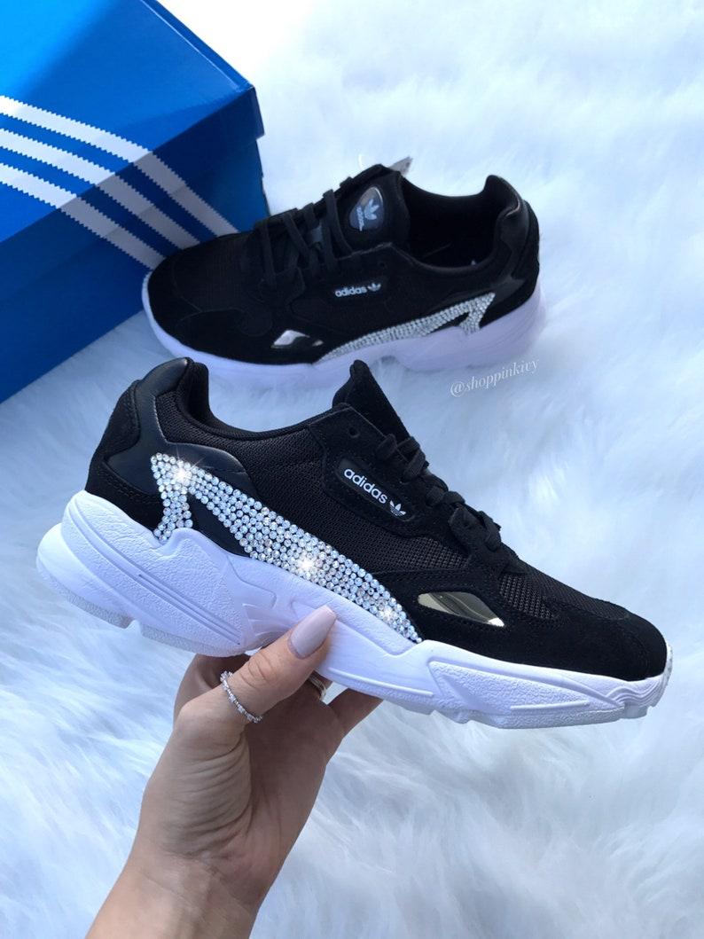 130c17683 SIZE 7.5 Swarovski Adidas Falcon Shoes   Etsy