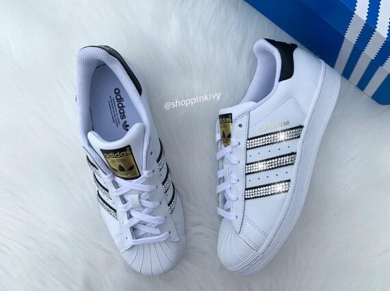 Für Swarovski Kristallen Damen Original Mit Adidas Superstar 6yf7bg