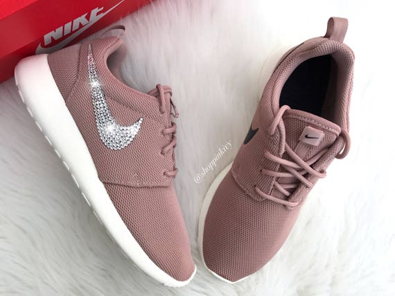 Crystals Roshe Nike SIZE Swarovski Shoes One With Swarovski 7 Nike Customized qvRw6a4