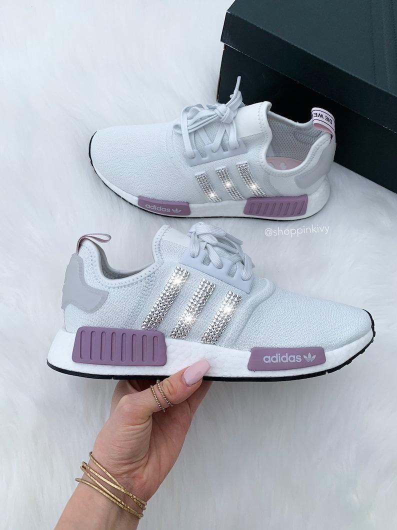 b7913612a Swarovski Adidas NMD Runner Casual Shoes   Etsy