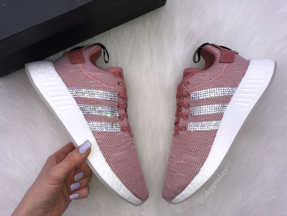R2 Adidas Shoes 7 Runner Casual NMD SIZE Swarovski Blush Xq8ZwxtS