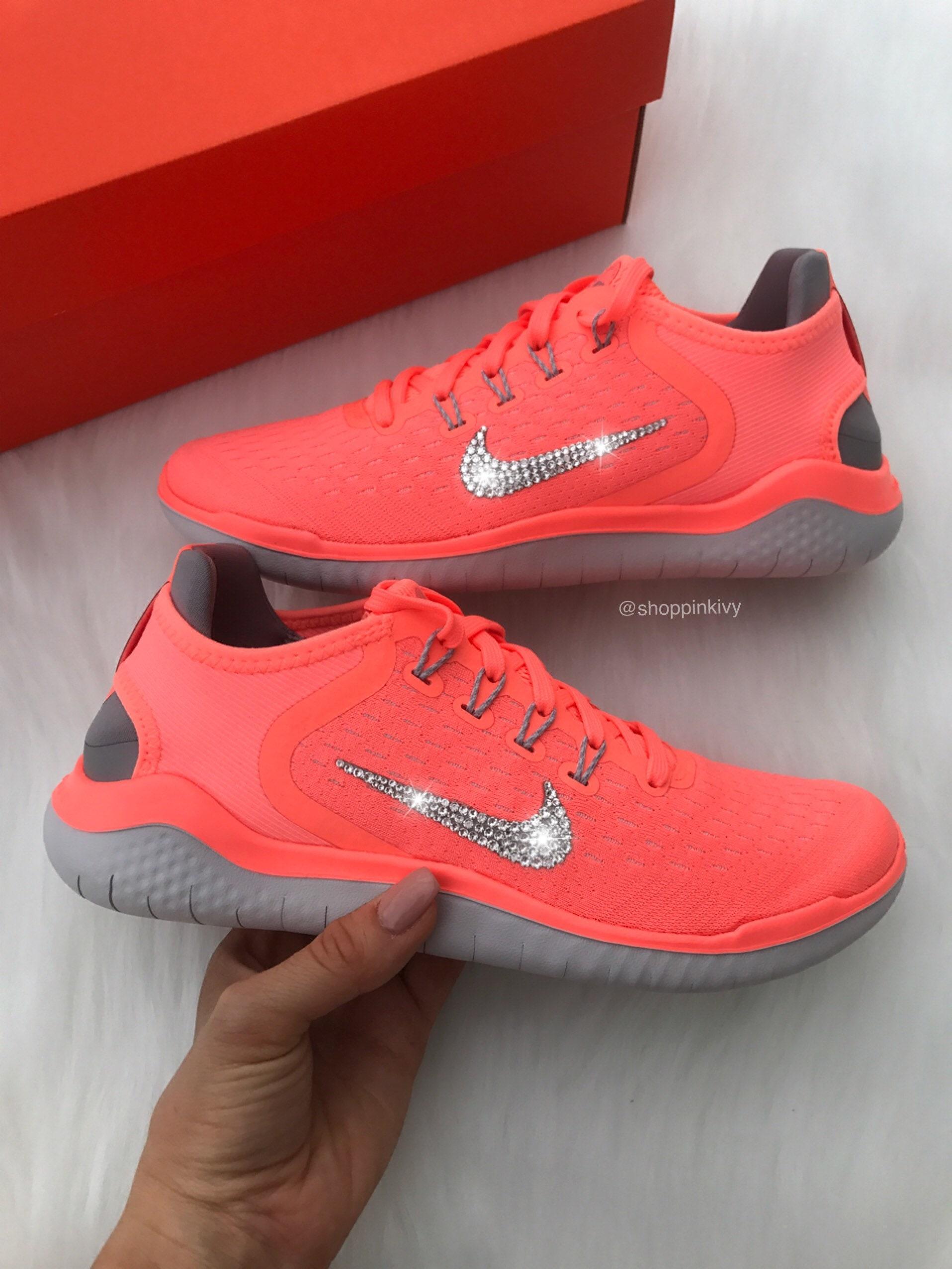 Swarovski Nike Free Rn Shoes With Swarovski Crystals Bling  6e355b9125dc