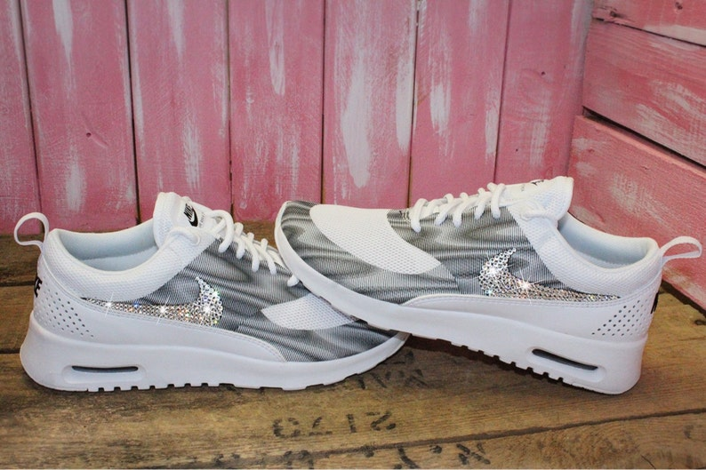 SALE SIZE 7 Swarovski Nike Air Max Thea Running Shoes with Swarovski Crystals Bling Nike Shoes