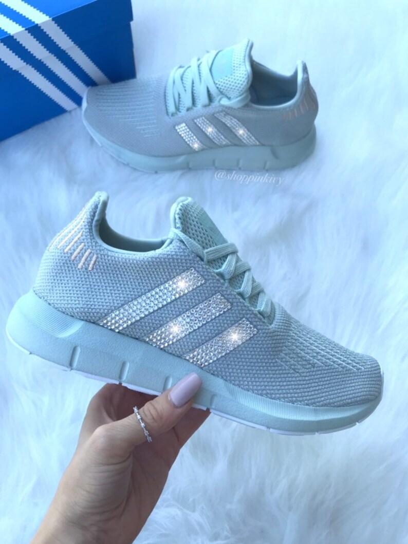 403ff3b42 Swarovski Women s Adidas Swift Run Casual Shoes