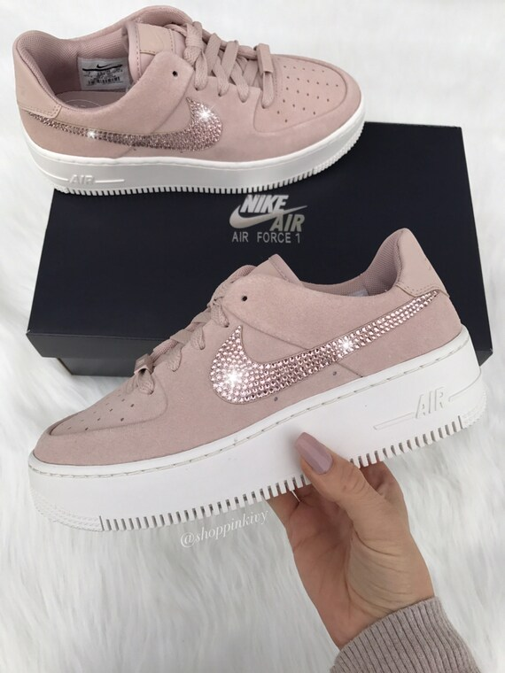 Swarovski Nike Air Force 1 Sage Low Blinged Out With Swarovski  683f46500d