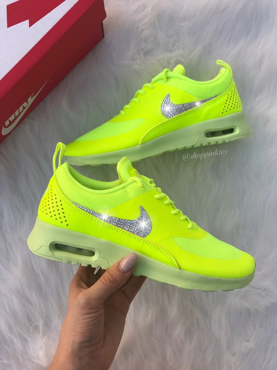 47928b612f Swarovski Nike Shoes Air Max Thea Running Shoes Bling Nike | Etsy
