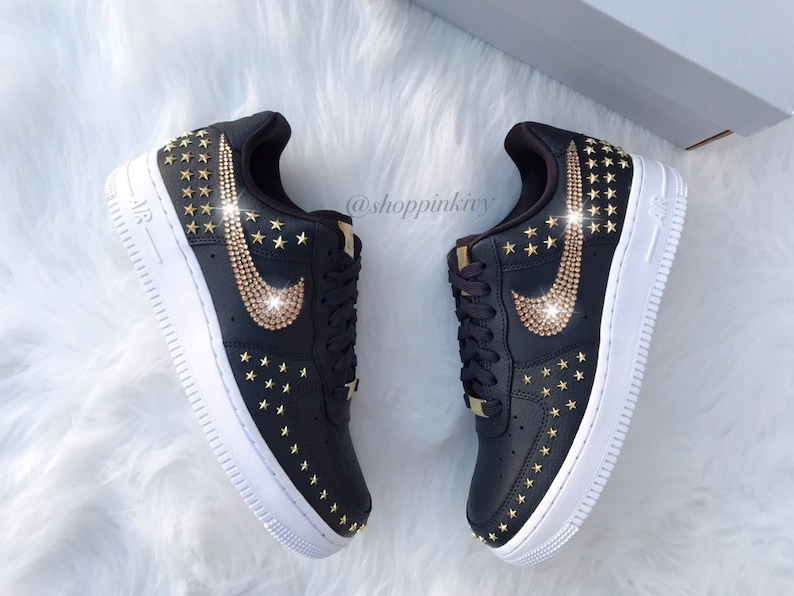 Swarovski Nike Air Force 1 Studded Low Blinged Out With  9481f91ce