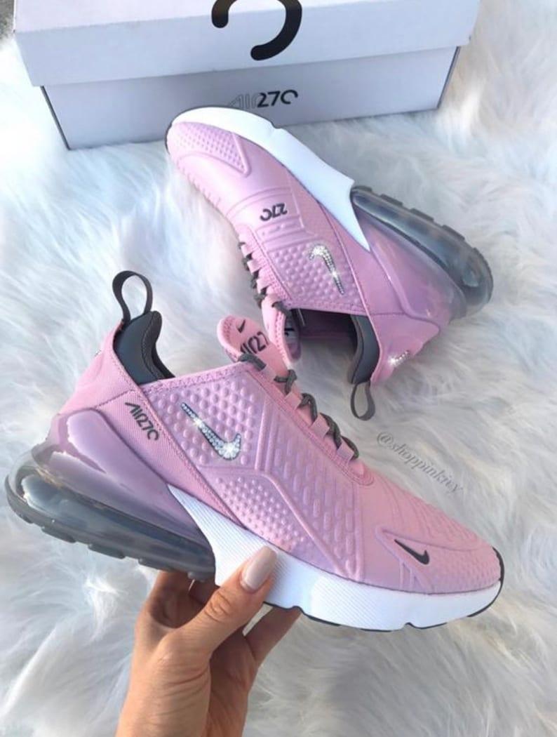 Swarovski Nike Air Max 270 Shoes Customized With Swarovski  031990a389