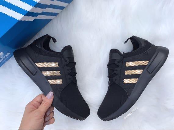 Gold Swarovski Adidas Originals XPLR Girls Womens Casual Shoes