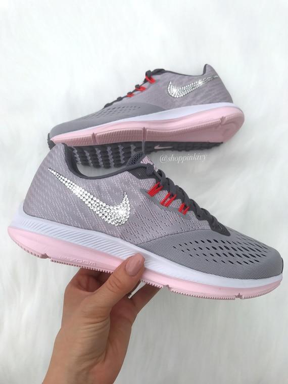 Swarovski Nike Zoom Winflo 4 Customized With Swarovski Crystal  f0133111b911