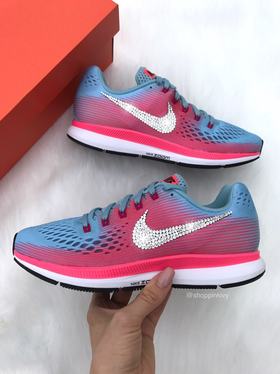 2142d2fdd3ac SIZE 7.5 Swarovski Nike Air Zoom Pegasus 34 Customized With