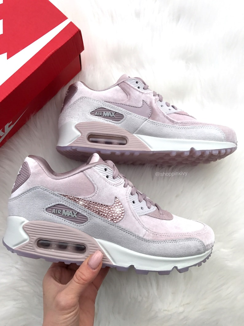 Womens Velvet Swarovski Nike Air Max 90 Premium Shoes with  066742202