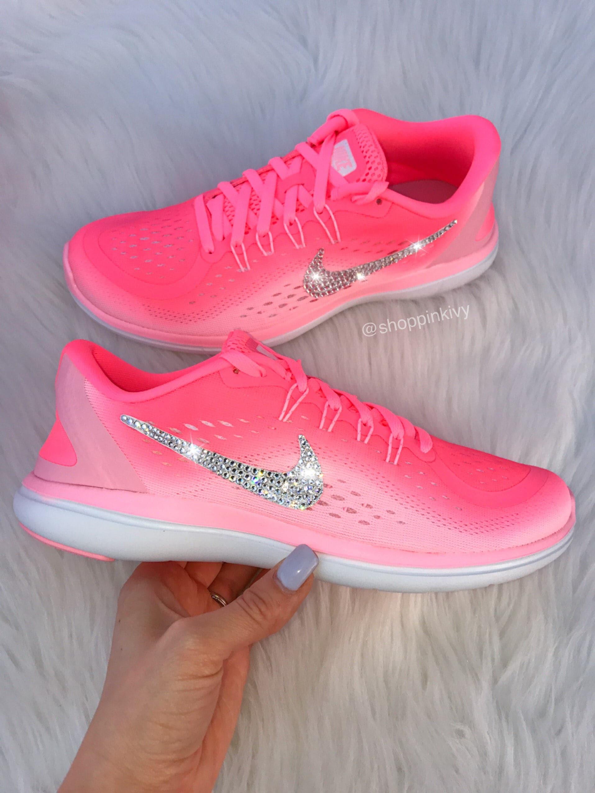f2a8f0b03d3ee Swarovski Nike Flex Running Shoes Customized With Swarovski