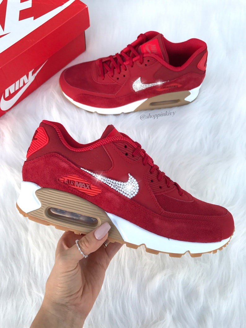 on sale 0a6b1 77891 SIZE 7 Womens Swarovski Nike Air Max 90 Premium Shoes with   Etsy