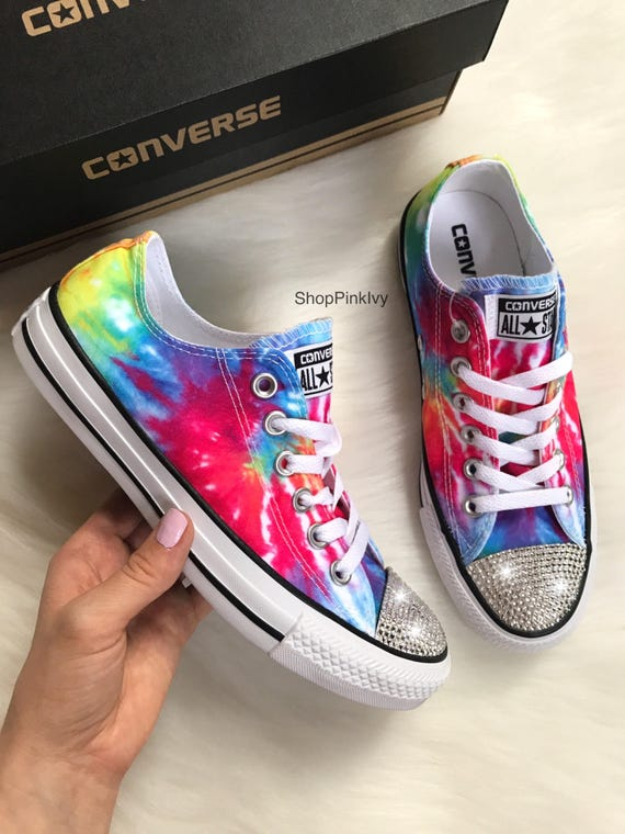 2a21f19c6ff9 ... Swarovski Ox Taylor Crystals Chuck Bling SIZE Casual Shoes 6 Customized  5 Converse Women s with TwYYCq07 ...