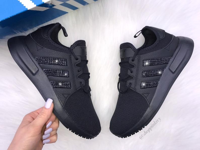 timeless design a0207 0feef Black Swarovski Adidas Originals XPLR Girls Womens Casual   Etsy