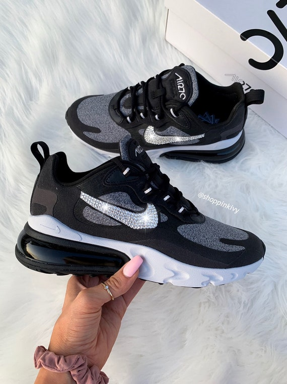 official usa cheap sale cheap prices Swarovski Nike Air Max 270 React Shoes Blinged Out With Swarovski Crystals  Bling Nike Shoes