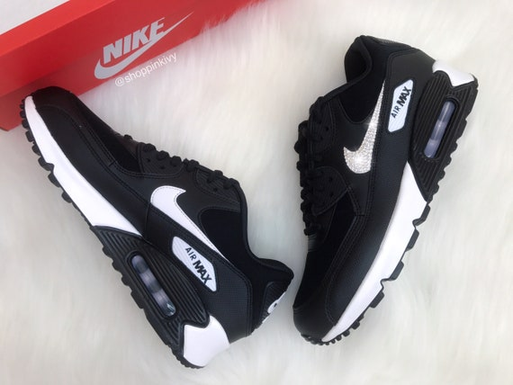 Shoes Black Swarovski Shoes Crystals Swarovski Premium 90 Out Nike Blinged Max Nike Bling Air With aqxvw4YX
