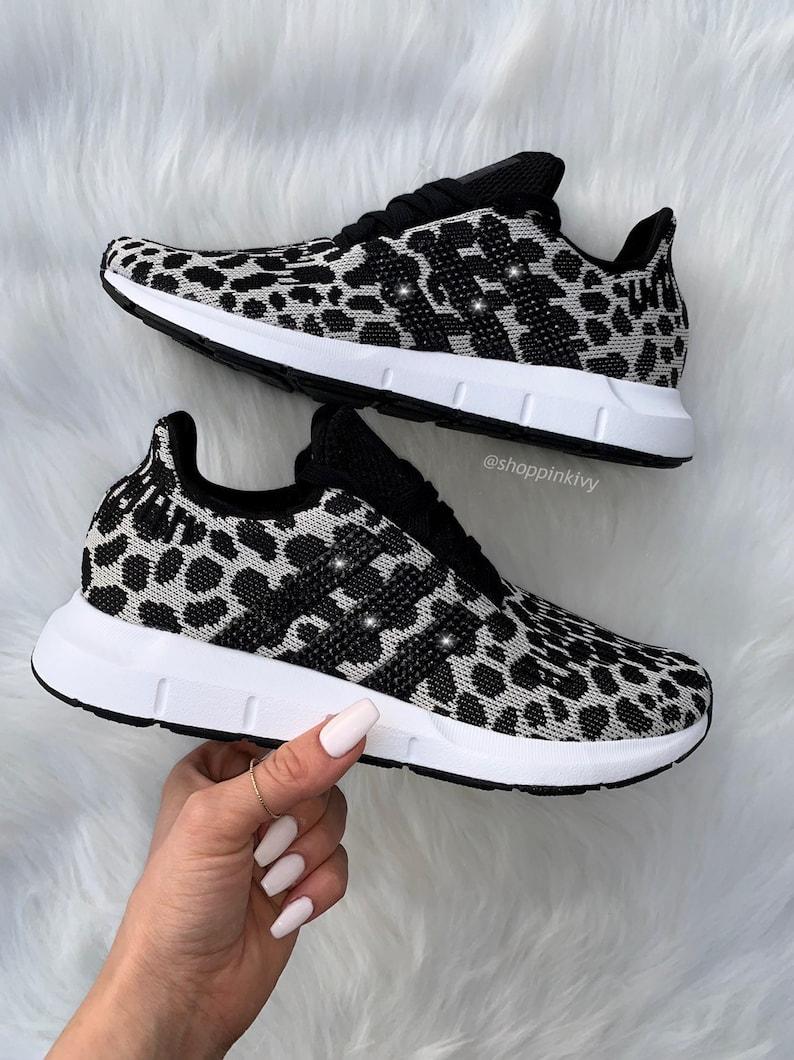 Leopard Shoes Run Adidas Swift Swarovski Casual Ig7yvYfmb6