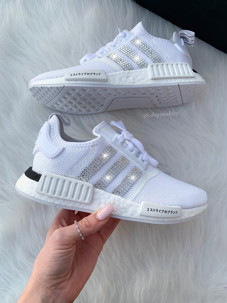 Swarovski Adidas Womens Girls NMD Customized With Swarovski  6d25e0323ae