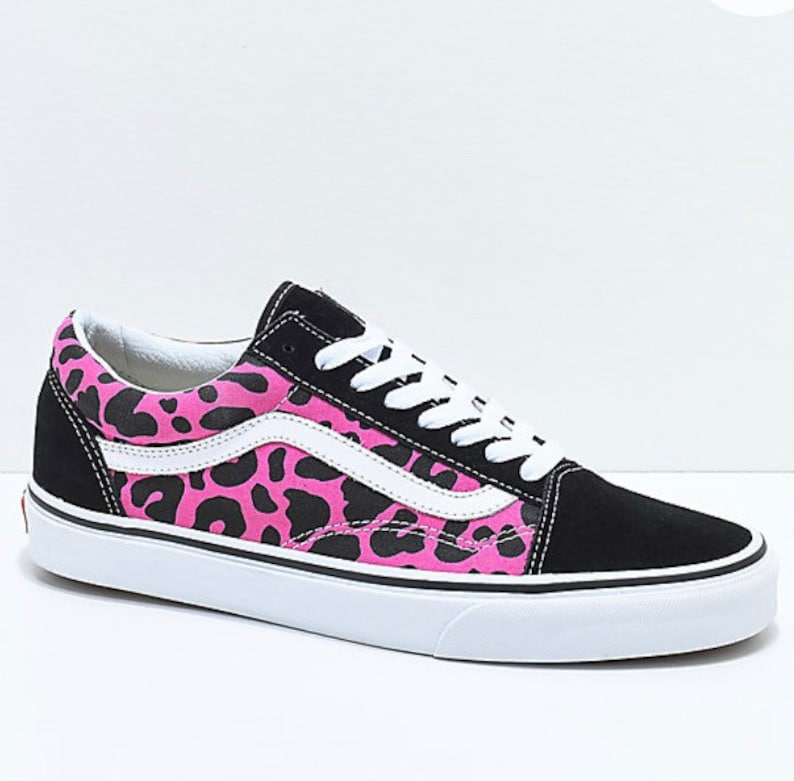 69bc0df365079 Womens Swarovski Leopard Vans Old Skool Skate Shoe with Swarovski Crystals