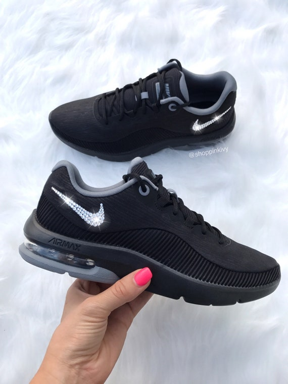 wholesale dealer 47995 0e3f5 Swarovski Nike Air Max Advantage 2 Shoes Customized With   Etsy
