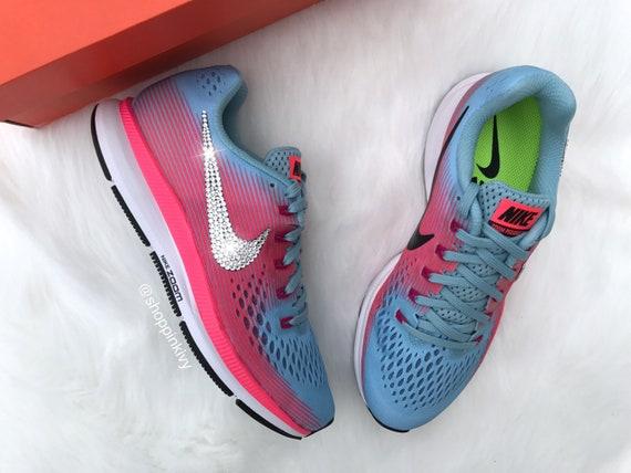 SIZE Zoom Pegasus With Air 5 Nike Nike Customized 7 Rhinestones Shoes Swarovski 34 Swarovski Crystal Bling XHxrwXq