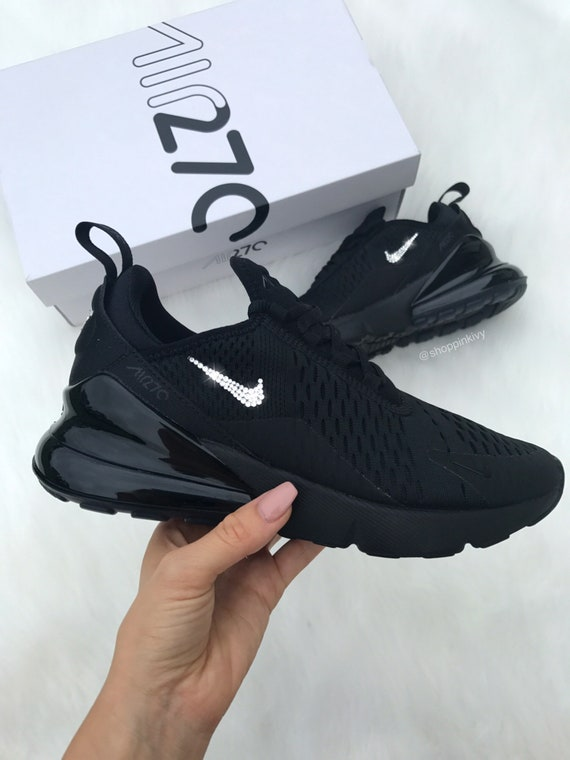 best place new lifestyle temperament shoes Swarovski Nike Air Max 270 Shoes Blinged Out With Swarovski Crystals Bling  Nike Shoes Black
