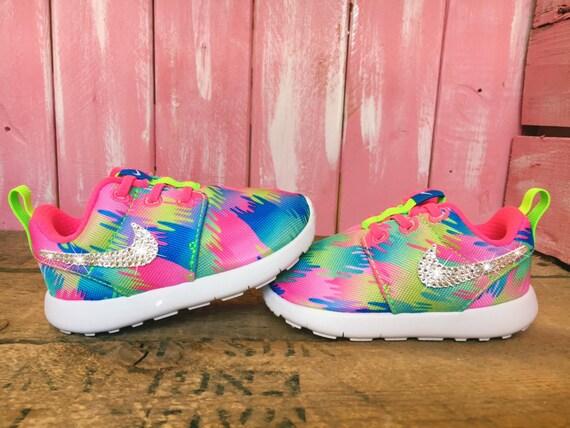 9ed38e234a68 Blinged Toddler Nike Roshe One Customized With Swarovski Crystals