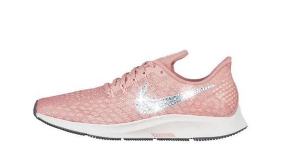 32c3408396f8 Swarovski Nike Air Zoom Pegasus 35 Customized With Swarovski Crystal  Rhinestones Bling Nike Shoes