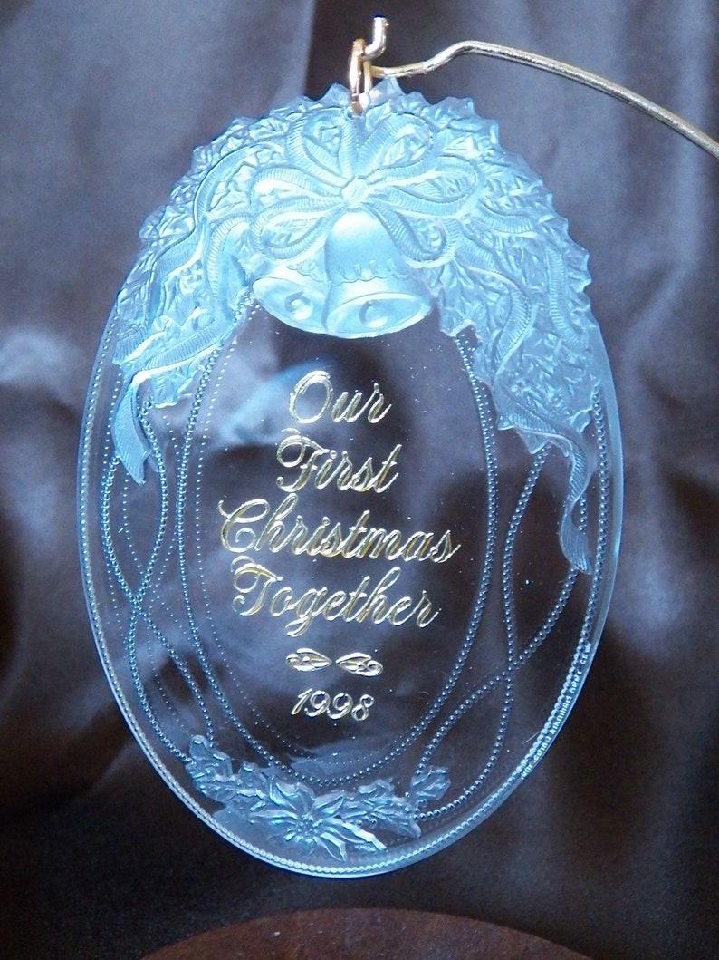 Hallmark Our First Christmas Ornament.1998 Hallmark Our First Christmas Together Keepsake Ornament Qx3193