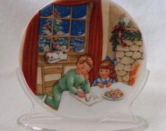 Vintage 1990 Hallmark Collector's Plate Series #4 - Cookies for Santa - QX4436