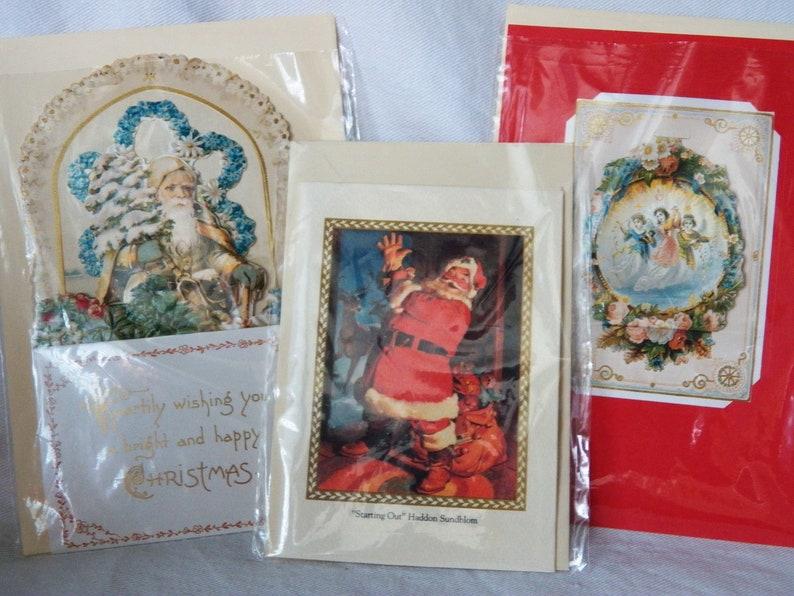 Lot E Lot of 3 Vintage Hallmark Christmas Cards