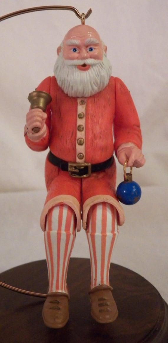 Hallmark Santa Ornament Lot of 10 Vintage inc Old Fashioned Santa /& Roadster
