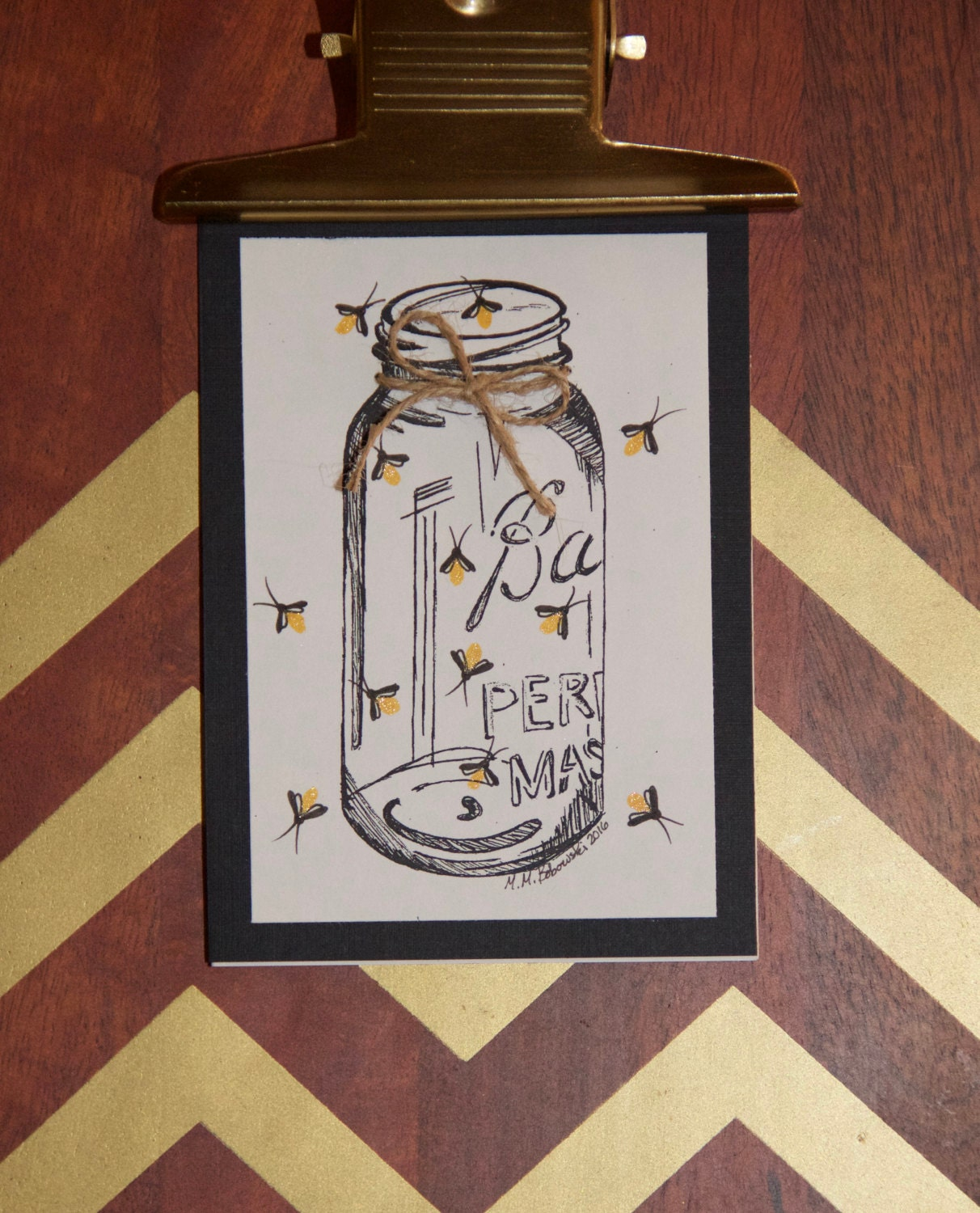 Greeting Card You Light Up My Life Fireflies Just Because Etsy