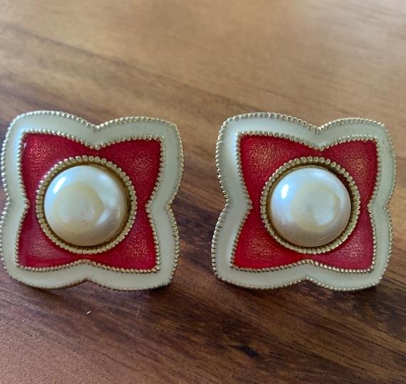 Vintage Schiaparelli Clip Earrings