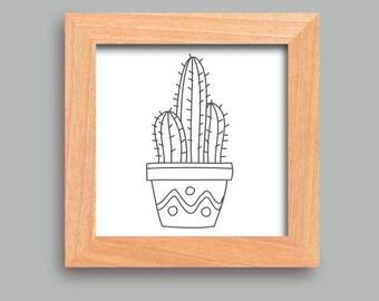 Cactus download, Cactus poster, Cactus wall art, Cactus print art, Cactus printables, Nursery poster 2017, Cactus wall prints