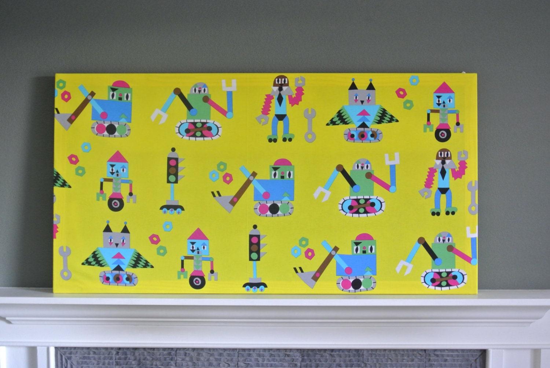 Marimekko \'Jakari\' Yellow Large Fabric Panel Wall Art | Etsy