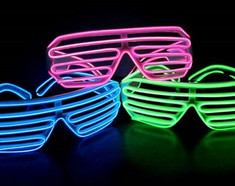 687e4b4c17f Sound Activated EL Shutter Glow Shades - 3-Mode