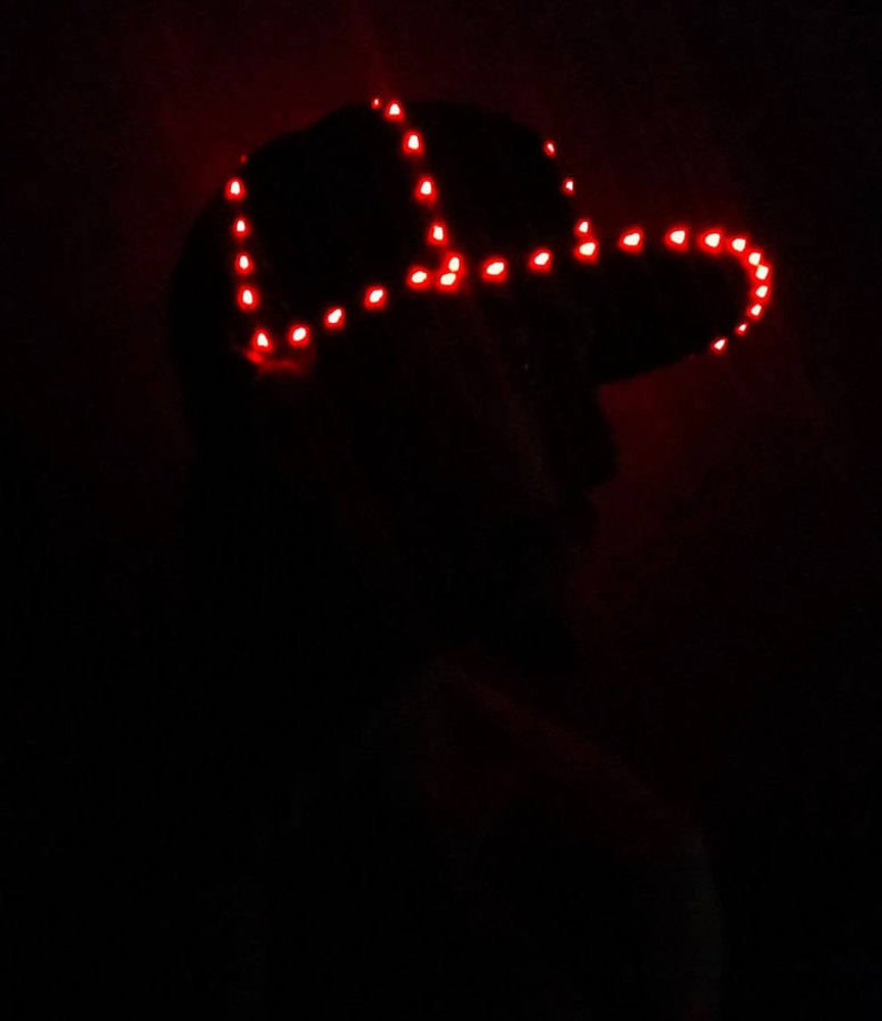 18f5142abcc LED Hat 85 Super Bright Micro LEDs Light Up Glow Hat by